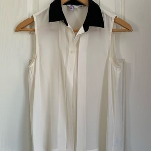 Walter Baker New York sleeveless silk white top XS
